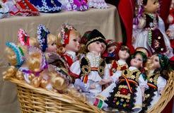 Rumänska dockor Arkivfoto