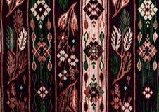 Rumänska folk sömlösa modellprydnader Rumänsk traditionell broderi Etnisk texturdesign Traditionell mattdesign Carpe arkivbilder