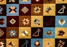 Rumänska folk sömlösa modellprydnader Rumänsk traditionell broderi Etnisk texturdesign Traditionell mattdesign Carpe Fotografering för Bildbyråer