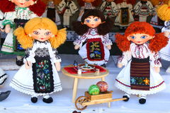 Rumänska handgjorda dockor Fotografering för Bildbyråer