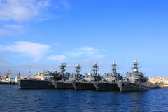 Rumänska krigsskepp Arkivfoto