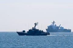Rumänska marinberömmar Arkivfoto