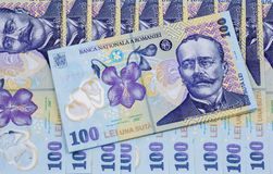 Rumänska pengar    Royaltyfri Fotografi