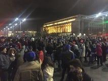 Rumänska protester Royaltyfria Bilder