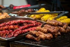 Rumänska traditionella köttprodukter Royaltyfria Foton