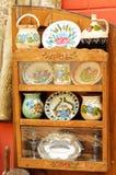 Rumänska traditionella keramiska krukar Royaltyfri Fotografi