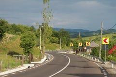 Rumänska vägar Fotografering för Bildbyråer