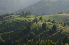 Rumänskt bygdlandskap Fotografering för Bildbyråer