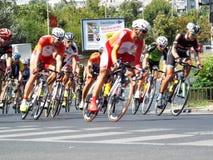 Rumänskt cykla för mästare turnerar royaltyfri fotografi