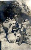 Rumänskt folk i den Carpathians 1924 mannen och kvinnorna Royaltyfri Foto