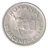10 rumänskt Lei mynt Arkivfoto