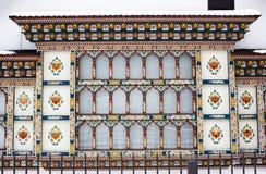 Rumänskt målat hus Royaltyfri Bild