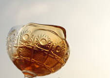 Rum. In the glass crystal Royalty Free Stock Images