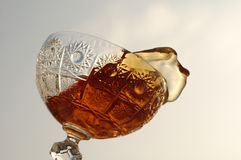 Rum. In the glass crystal Stock Photo