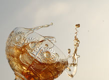 Rum. In the crystal glass Stock Photography