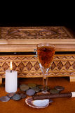 Rum And Cigar Stock Photography