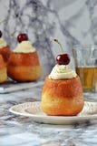Rum Baba Dessert Stock Photo