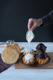 Rum babas (rum cakes) Stock Photography