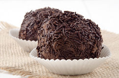 Rum ball in a paper case Stock Photos