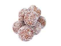 Rum balls. Chocolate truffles stock photos