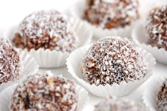 Rum balls with cherry Stock Photography