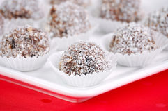 Rum balls with cherry Stock Photo