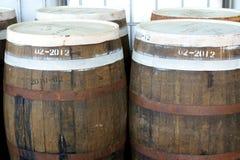 Rum-barrels. Close-up Picture of some rum-barrels stock image