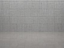 Rum - betong och tjock skiva Arkivfoto