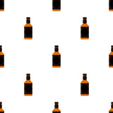 Rum bottles pattern. Whiskey, brandy, liquor, rum for pubs, restaurants Stock Image