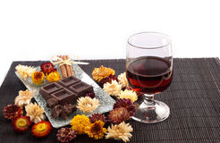 Rum and chocolate Royalty Free Stock Image