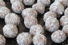 Rum chocolate balls Royalty Free Stock Image
