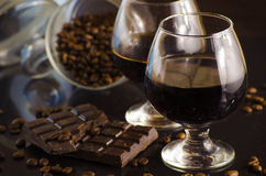 Rum and chocolate Royalty Free Stock Photography