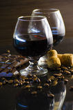 Rum and chocolate Royalty Free Stock Images