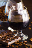 Rum and chocolate Royalty Free Stock Photos