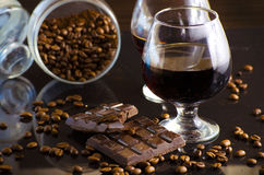 Rum and chocolate Stock Image