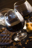 Rum and chocolate Stock Photos