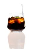 Rum-coke. In glass on white background Stock Photos