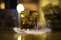 Rum and Coke Drinks on Ice royalty free stock photos