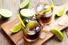Rum and cola Cuba Libre drink Stock Photos
