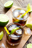 Rum and cola Cuba Libre drink Stock Image