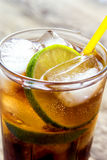 Rum and cola Cuba Libre drink Stock Photography