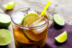 Rum and cola Cuba Libre drink Stock Photo