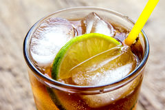 Rum and cola Cuba Libre drink Royalty Free Stock Image