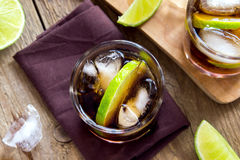 Rum and cola Cuba Libre drink Royalty Free Stock Photography
