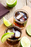 Rum and cola Cuba Libre drink Stock Images