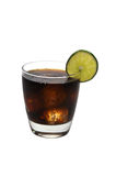 Rum and Cola, Lime, Isolated Royalty Free Stock Photography
