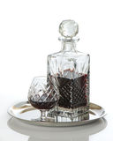 Rum In Decanter With Glass Royalty Free Stock Image