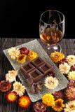 Rum e cioccolato fotografie stock libere da diritti