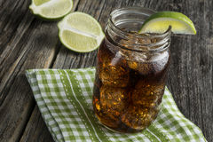 Rum e cola - Cuba Libre Foto de Stock Royalty Free