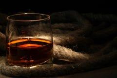 Rum e corda Fotografia Stock